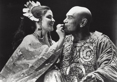 Home Sweet Homer, 1976. Yul Brynner as Odysseus with Diana Davila portraying a character named Nausikaa