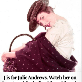 J is for Julie Andrews