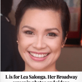 L is for Lea Salonga