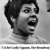 U is for Leslie Uggams