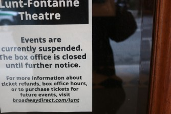 sign on Lunt Fontanne Theater