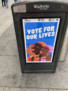 vote for our lives sign