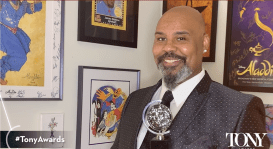 James Monroe Iglehart announcing the nominations for the 74th annual Tony Awards