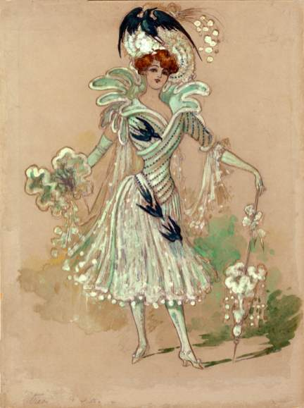 Carolyn Siedle's design for the character of Trixie Tryfle in the stage-musical version of THE WIZARD OF OZ, 1903.