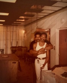This candid backstage snapshot of choreographer Alvin Ailey (1931-1989) and dancer Dudley Williams (1938-2015) was taken sometime in the 1970s.