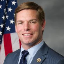 "Rep Eric Swalwell, California's 15th district ""He built this mob over many months with repeated messaging until they believed that they had been robbed of their vote and they would do anything to stop the certification. He made them believe that their victory was stolen and incited them so he could use them to steal the election for himself."""