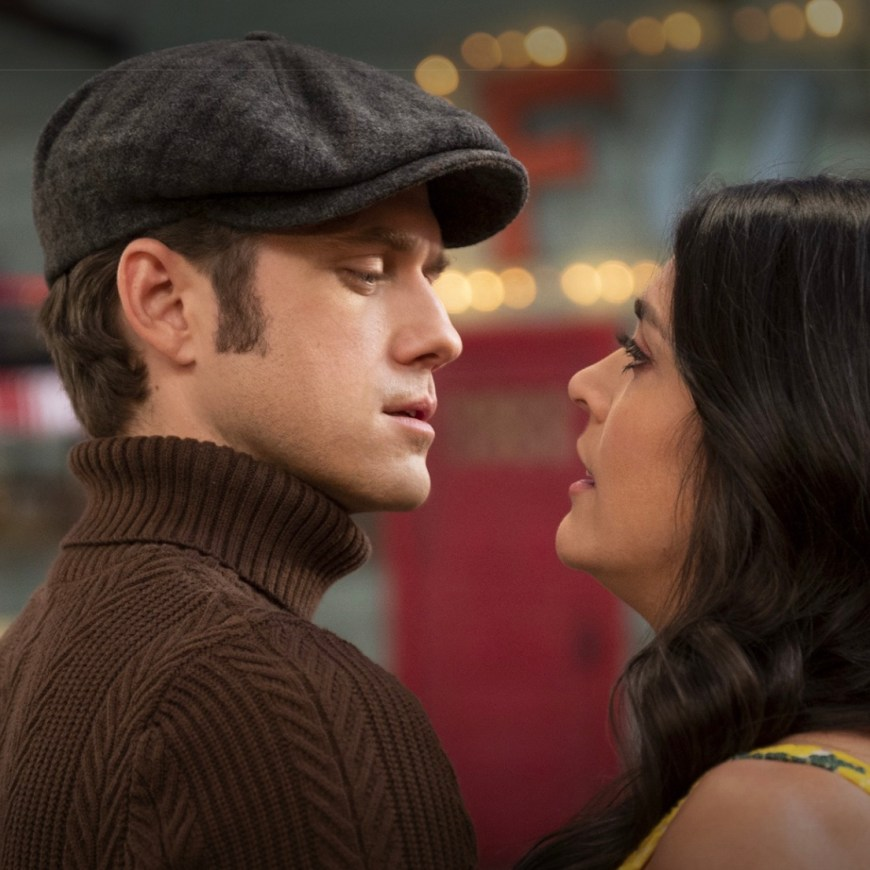 Aaron Tveit and Cecily Strong