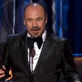 Danny Burstein, his seventh nomination and first win, for Moulin Rouge. Thanked the assembled for their support when his wife Rebecca Luker died
