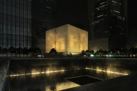 Rendering of The PAC at night