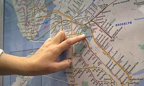 mappa metro new york