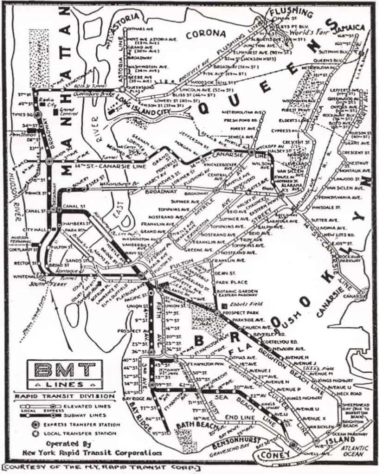 vecchia mappa metro new york