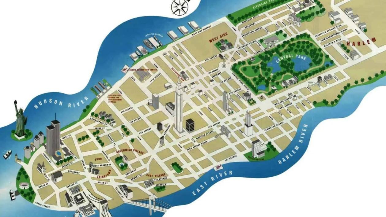 cartine new york mappa