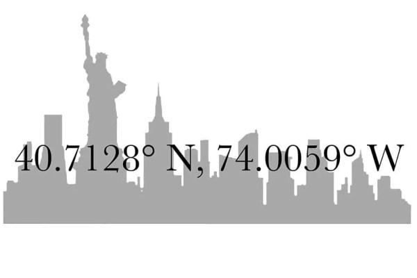 coordinate geografiche new york