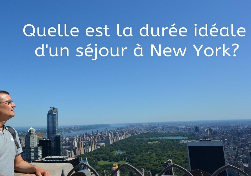 durée séjour New York