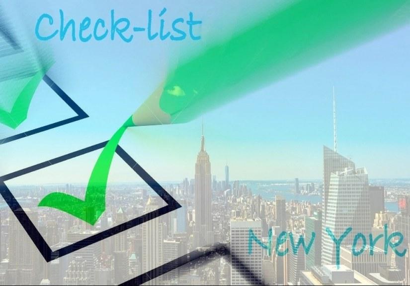 Check-list pour préparer de A à Z votre voyage à New York.