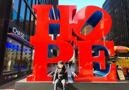 Hope-sculpture