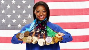 Magic Johnson Sits Down with Olympic Gold Medalist Simone Biles