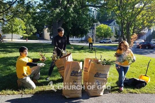 environmental cleanup in albany, world mission society church of god, albany, new york, wmscog, Swinburne park, Livingston Park