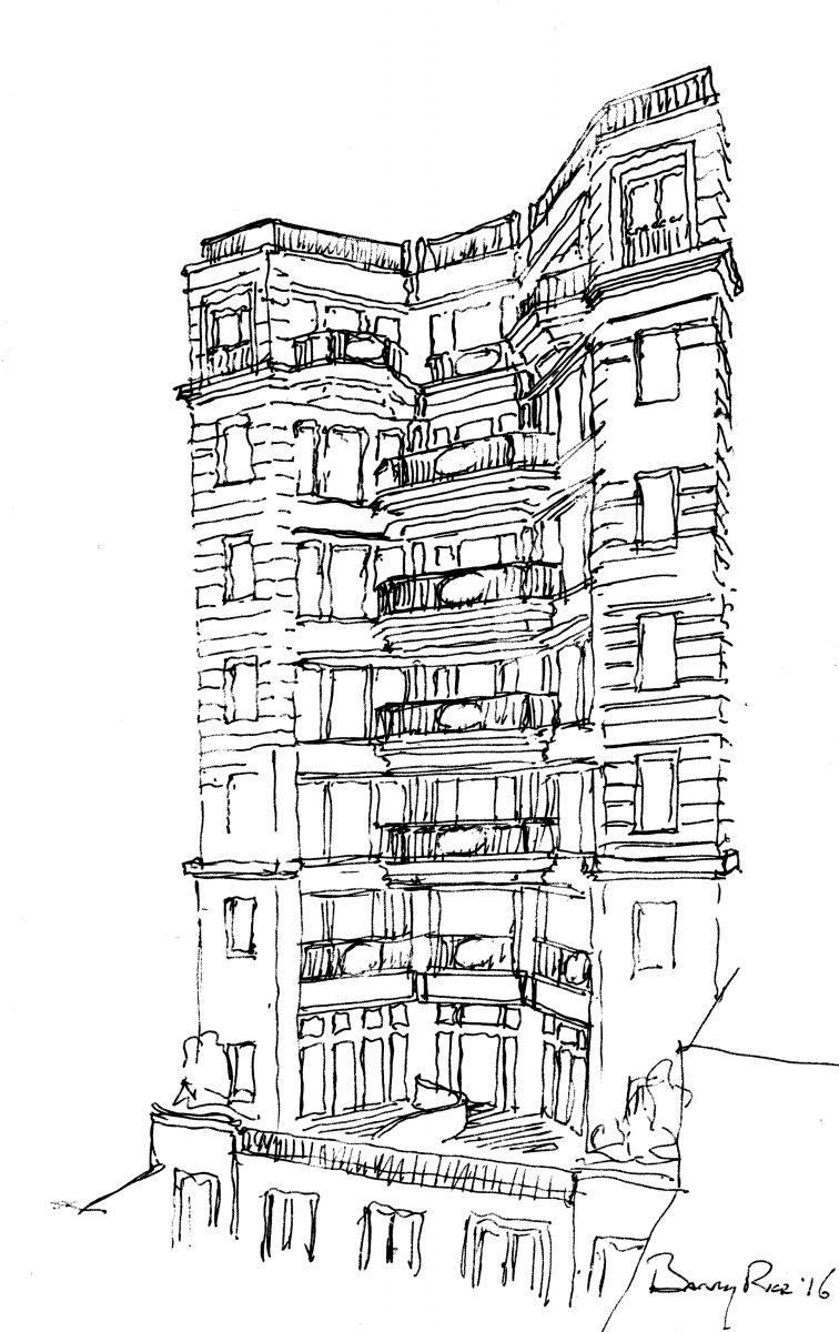 hight resolution of 164 west 74th street sketch by barry rice architects164 west 74th street sketch by