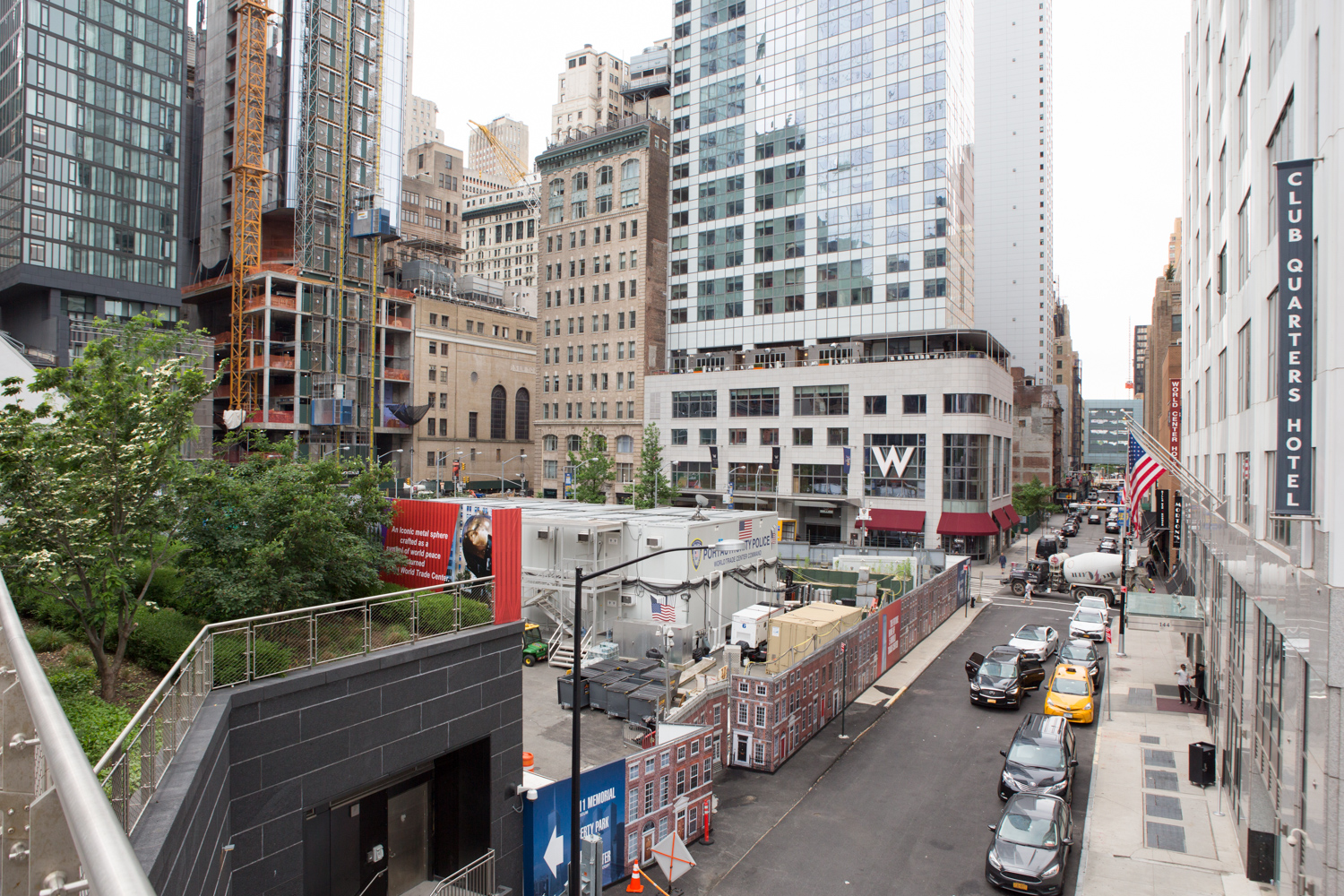 hight resolution of existing site for five world trade center