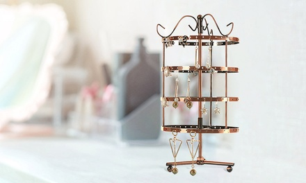 $25 for a 4 Tier Earring Hanging Storage Rack in a Choice of Colour