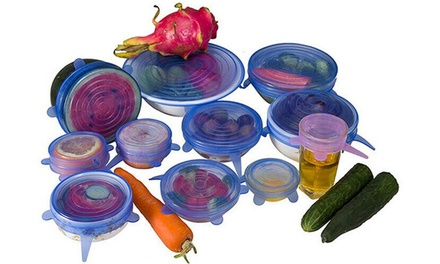Round Silicone Food Cover: 6 Piece ($9.95), 12 Piece ($15) or 18 Piece Set ($19)