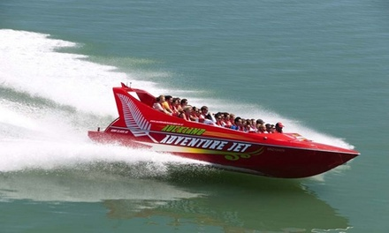 35 Minute Jet Boat Ride: 1 ($39), 2 ($78), 3 ($117), 4 ($156) or 10 People ($390) with Auckland Adventure Jet ($980 Val)