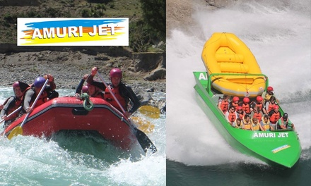 Rafting + Jet Boat Ride + Free Photos: 1($79), 2($155), 4($305), 6($455) or 8 Ppl($599) at Amuri Jet Hanmer Springs