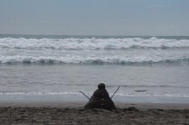 Sandoklaus am Strand