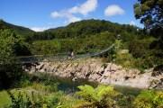 die längste Schwingbrücke Neuseelands, 110m