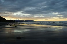 Abends am Strand der Golden Bay