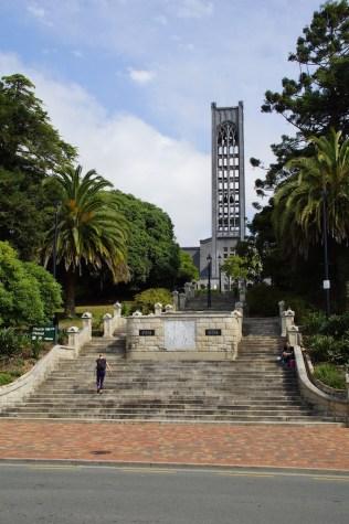 Kirchtum der Kathedrale in Nelson