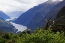 Blick auf dem Doubtful Sound am Wilmot Pass