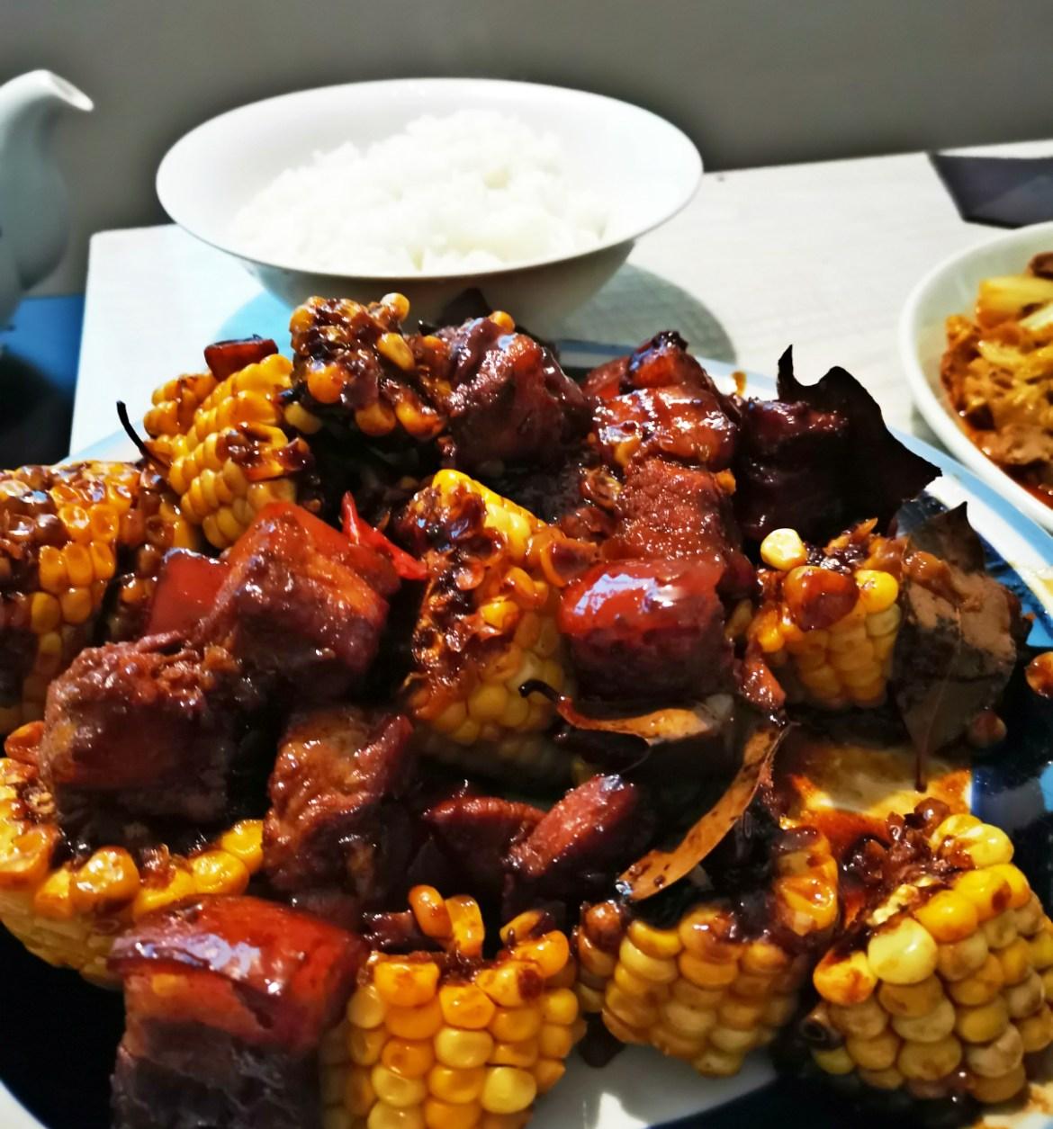 玉米红烧肉,入味又下饭