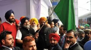 Deputy CM Punjab Sukhbir Singh Badal flags off Maiden Tirth Yatra Train