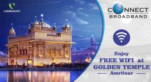 Devotees can access Videocon Connect Free Wifi internet sewa at Golden Temple