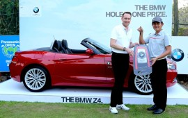 South Korean Golfer Sung Lee scores a Hole-in-One in Panasonic Open India, drives home a BMW Z4