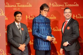 mr-anshul-jain-and-mr-marcel-kloos-posing-with-wax-figure-of-mr-amitabh-bachchan-small