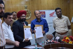 Honda signs MoU with Haryana Police for Road Safety