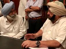 Khaira & Phoolka Share Condolence with Punjab CM