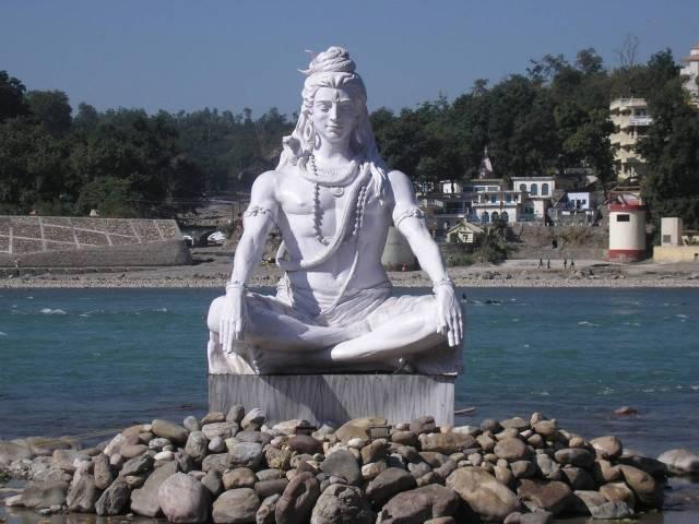 A statue at Rishikesh