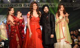 "Celebrity Designer Haneet singh Showcased ""Midnight Beauty"" Collection"