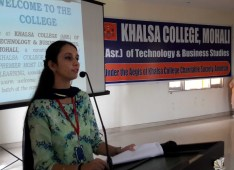 Orientation for freshers at Khalsa College