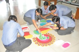 Brilliance organises Rangoli making on Diwali