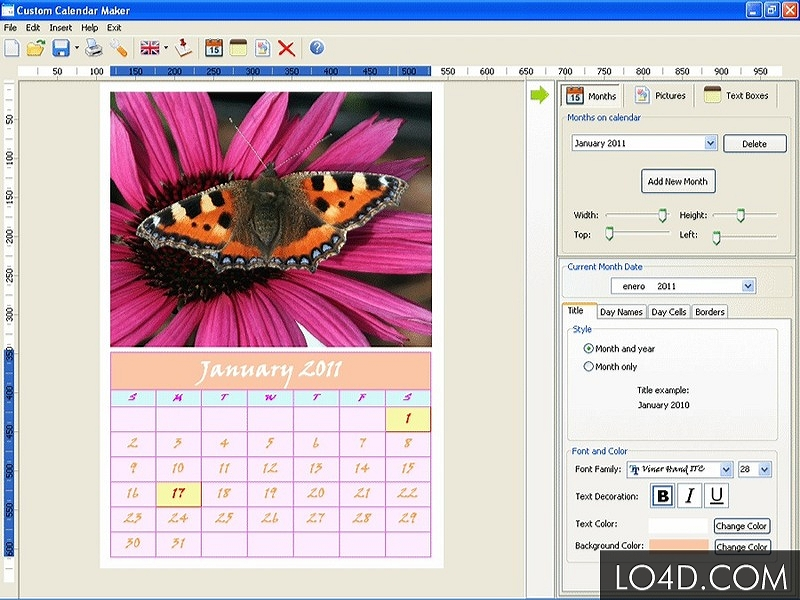 Calendar Design Program : Most inspiring calendar making software