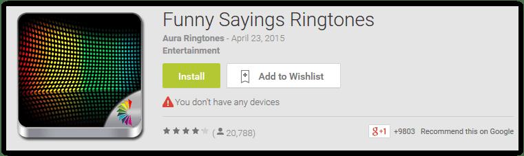 Funny Sayings Ringtones