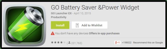Go Battery Saver & Power Widget