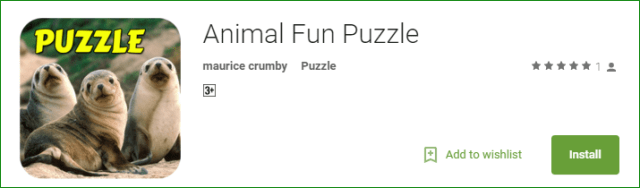 Puzzles android app