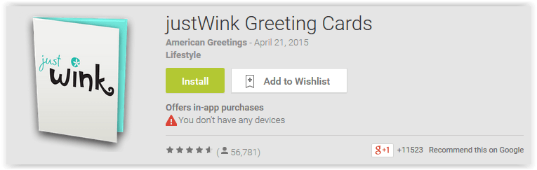 top  greeting card apps for android to show your love, Greeting card