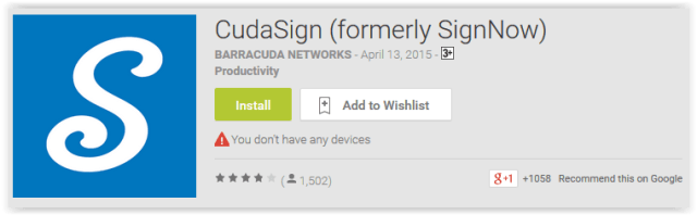 CudaSign (formerly SignNow)